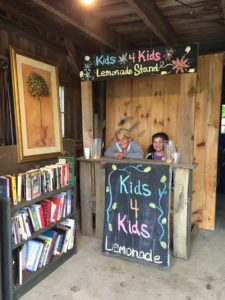 Pop-Up LFL and Kids 4 Kids Lemonade & Cookies Stand @ Bella Luna Gift Shop