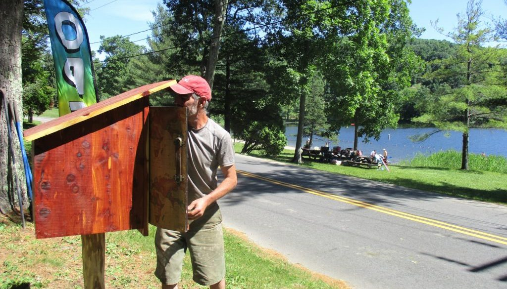 Patrick Flanagan installing LFL at Lake Waramaug